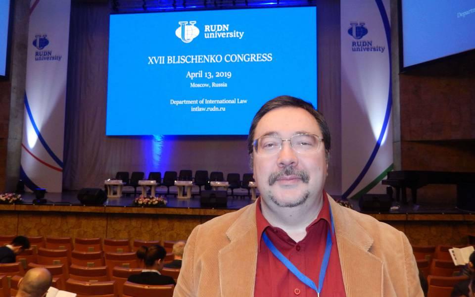Заведующий кафедрой международного права Университета ТИСБИ Александр Мезяев